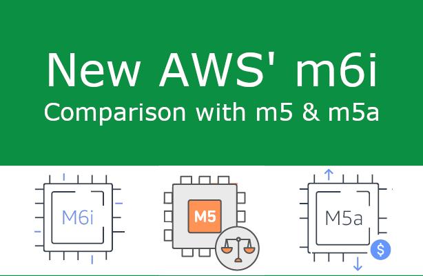 AWS benchmark m6i vs m5 vs m5a