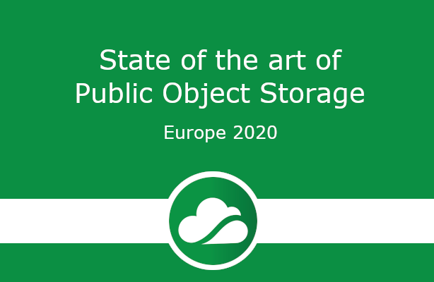 State of the art of Public Object Storage Europe